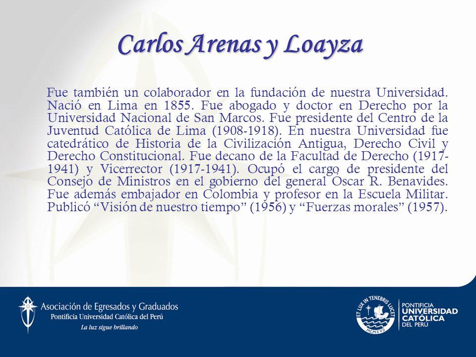 Carlos Arenas y Loayza