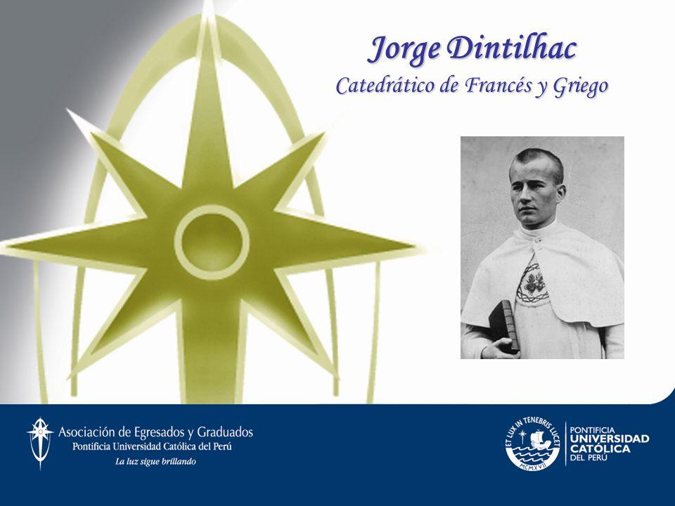 Jorge Dintilhac Catedrático de Francés y Griego