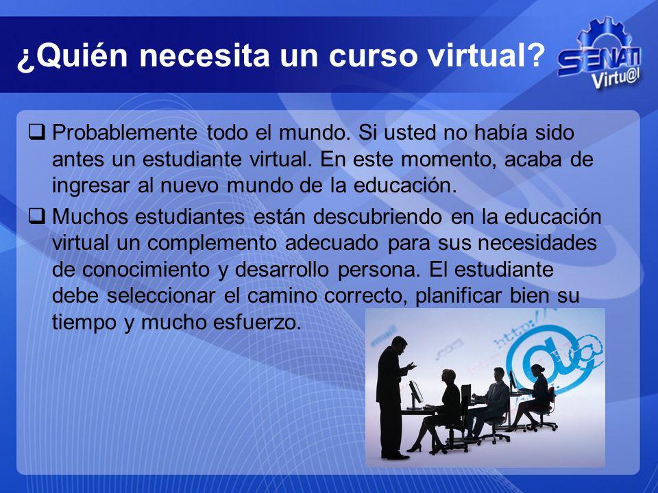 ¿Quién necesita un curso virtual