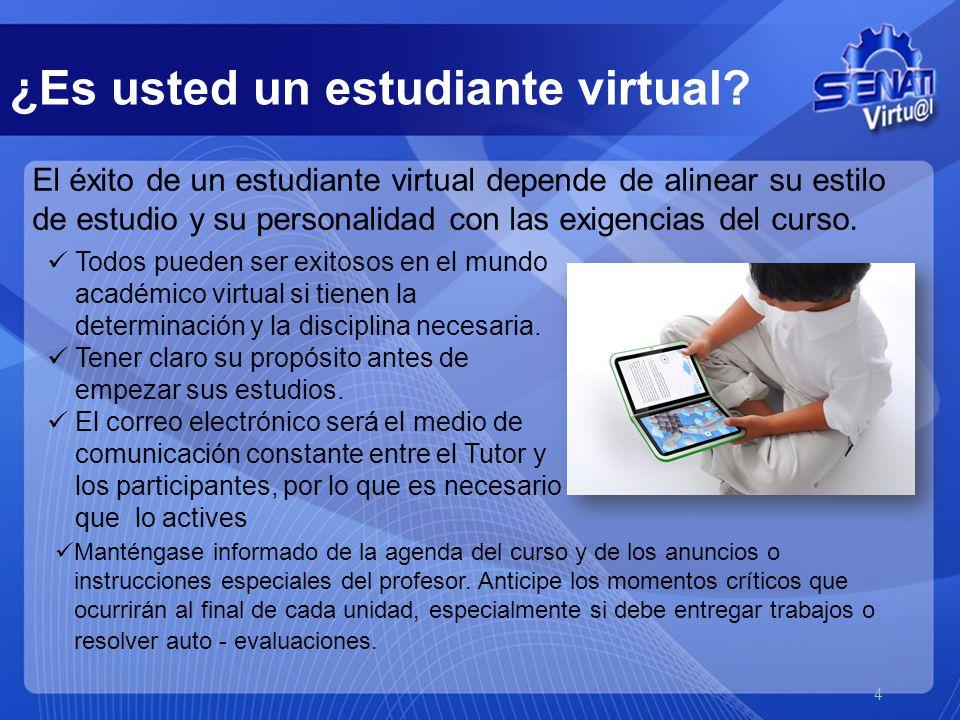 ¿Es usted un estudiante virtual