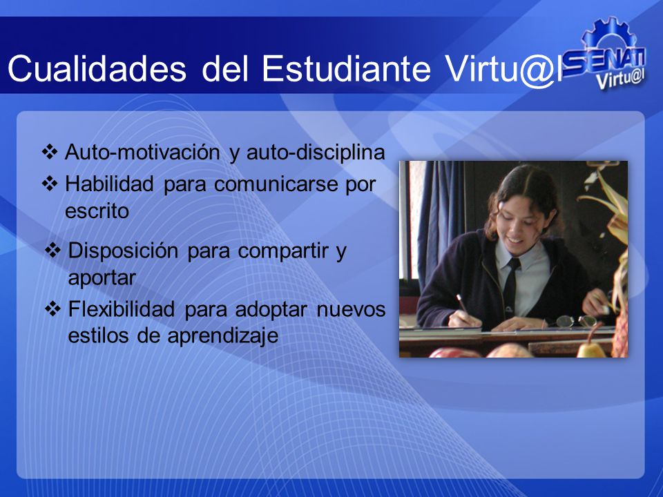Cualidades del Estudiante Virtu@l