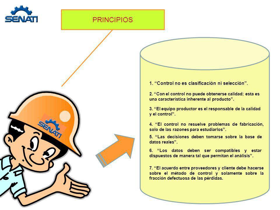PRINCIPIOS 1. Control no es clasificación ni selección .