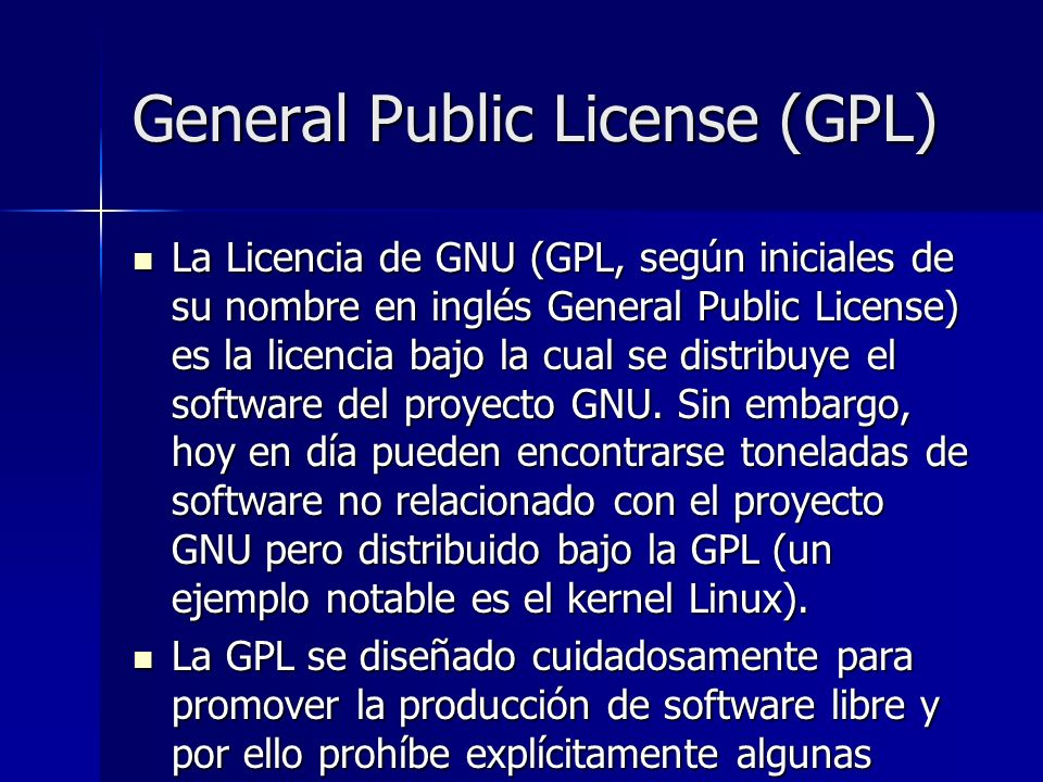 General Public License (GPL)