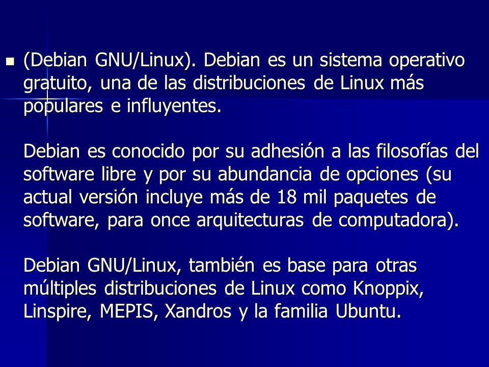 (Debian GNU/Linux).