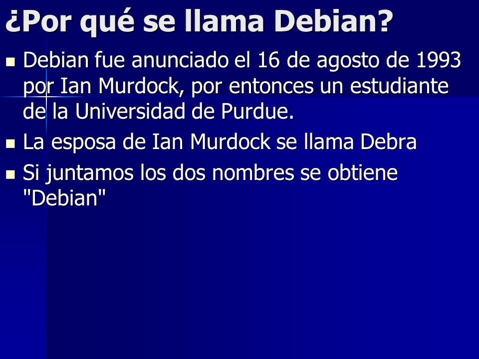 ¿Por qué se llama Debian