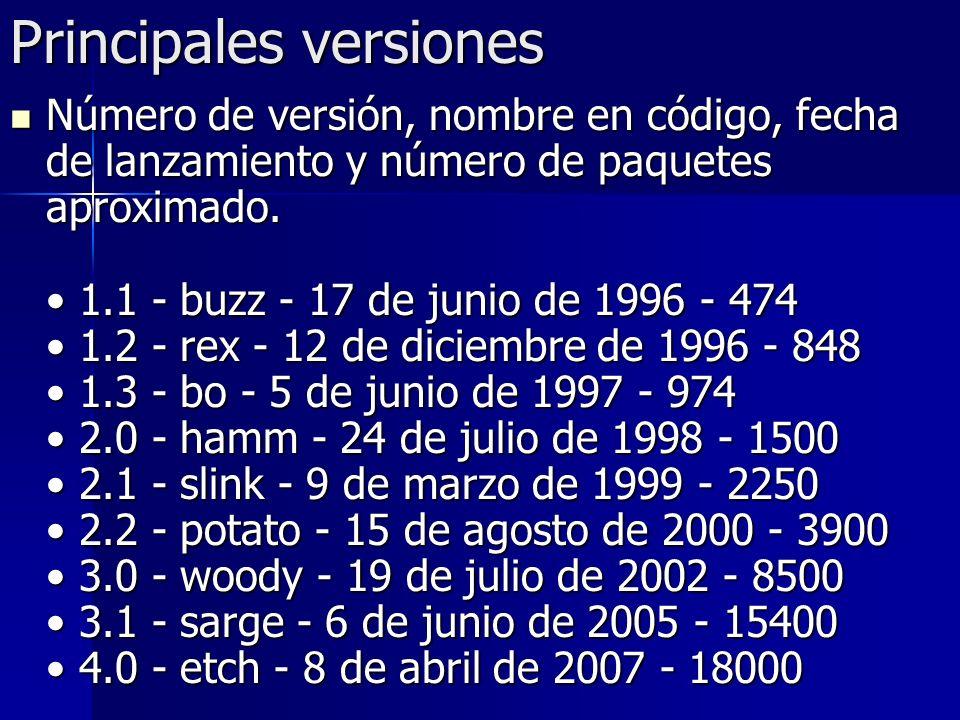 Principales versiones