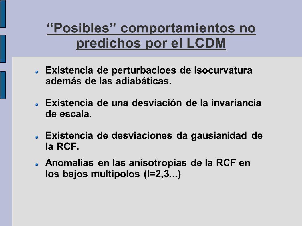 Posibles comportamientos no predichos por el LCDM