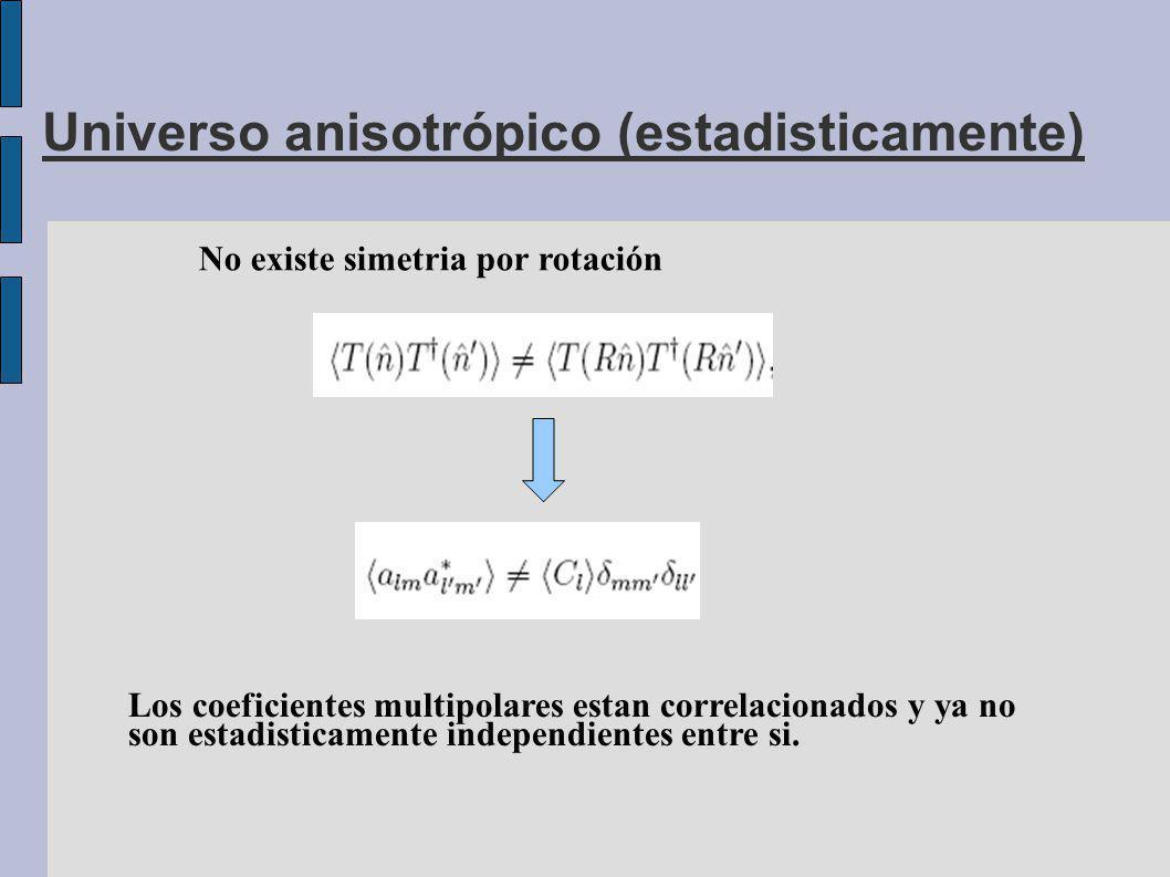 Universo anisotrópico (estadisticamente)