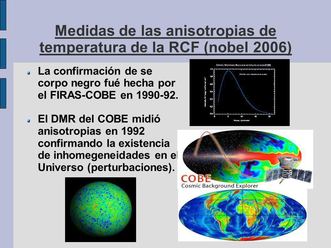 Medidas de las anisotropias de temperatura de la RCF (nobel 2006)
