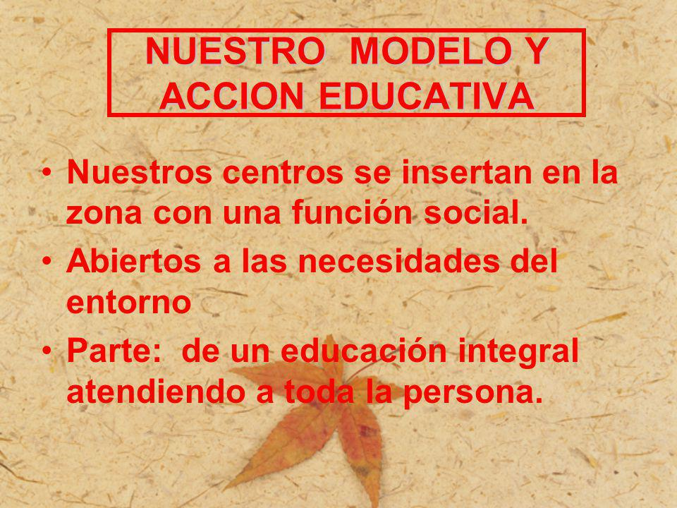 NUESTRO MODELO Y ACCION EDUCATIVA