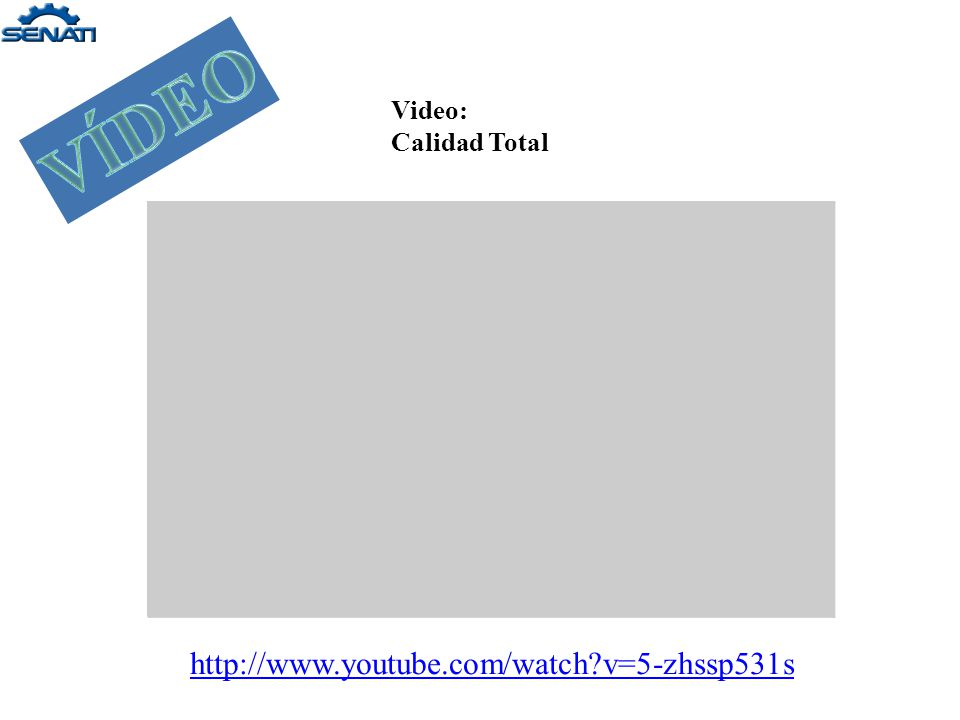 VÍDEO Video: Calidad Total http://www.youtube.com/watch v=5-zhssp531s