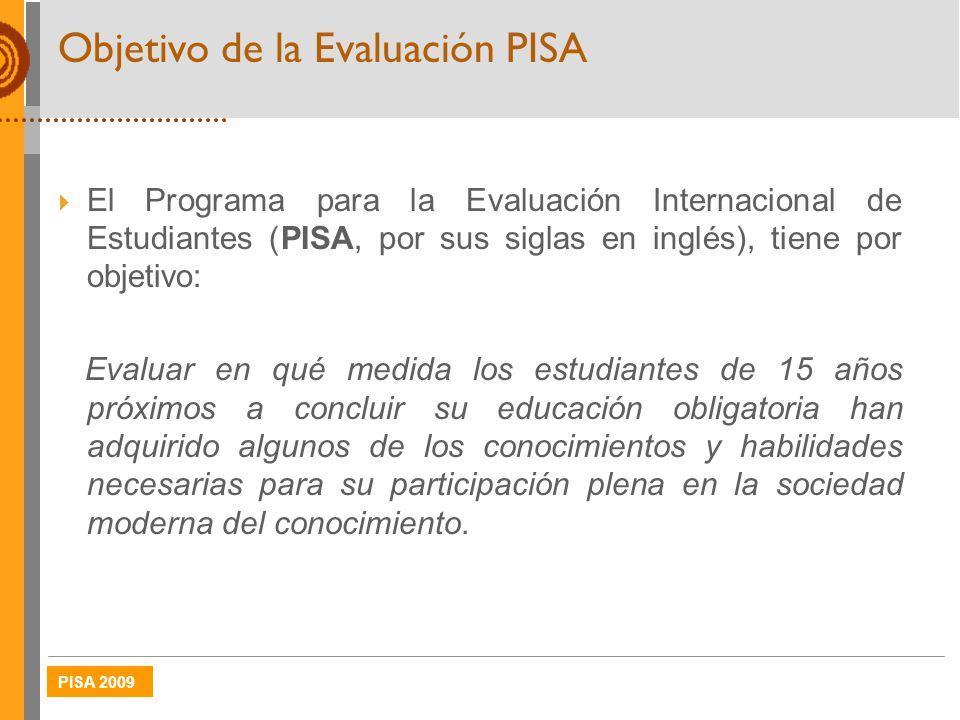 Objetivo de la Evaluación PISA