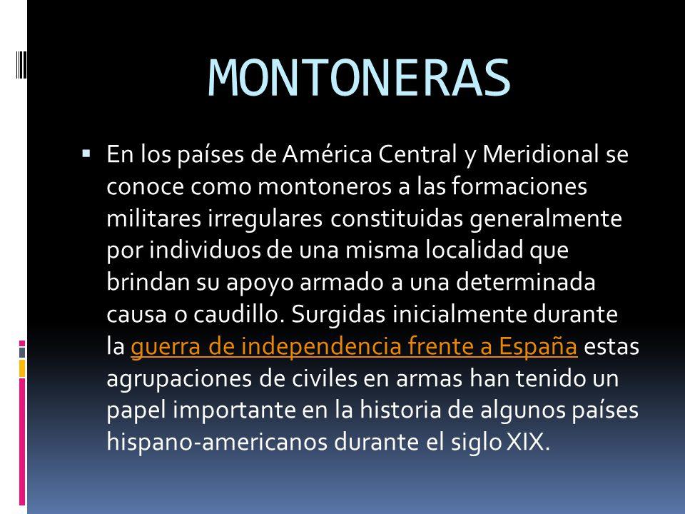 MONTONERAS