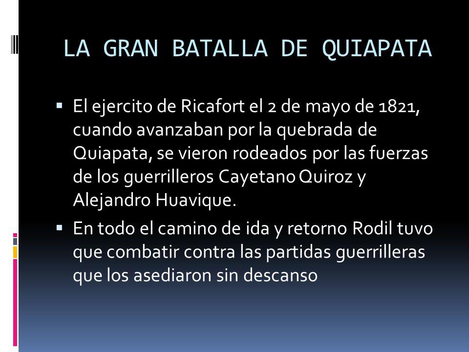 LA GRAN BATALLA DE QUIAPATA