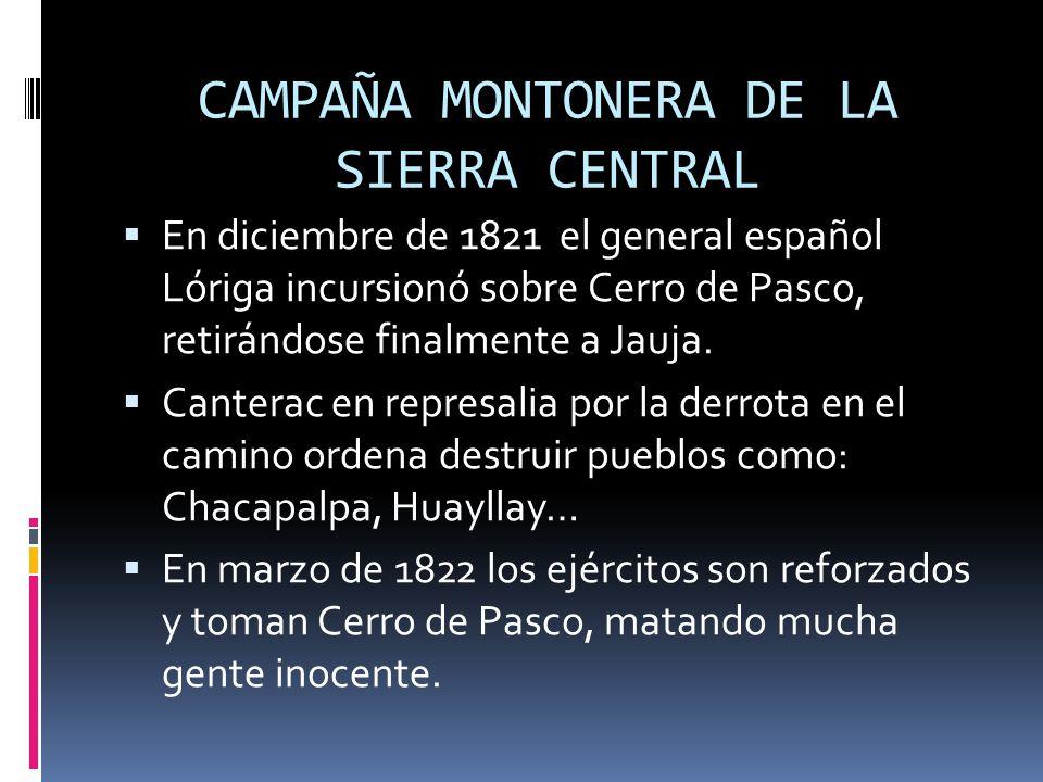 CAMPAÑA MONTONERA DE LA SIERRA CENTRAL