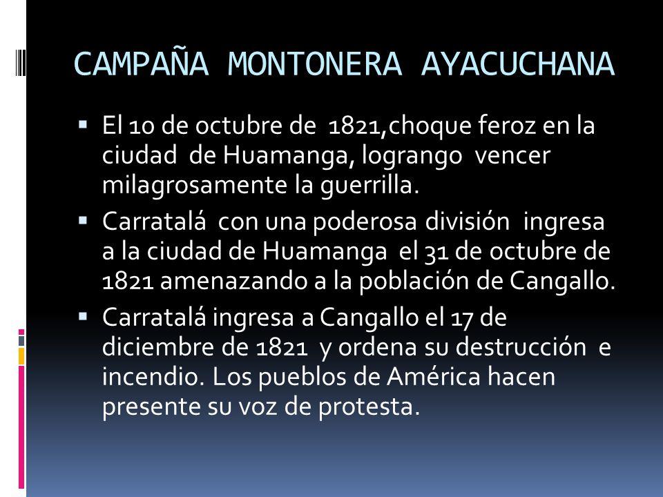 CAMPAÑA MONTONERA AYACUCHANA