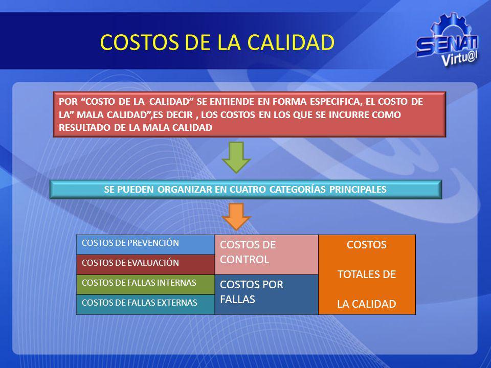 SE PUEDEN ORGANIZAR EN CUATRO CATEGORÍAS PRINCIPALES