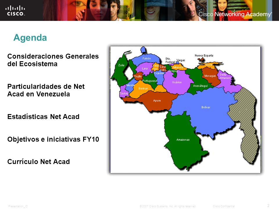 Agenda Consideraciones Generales del Ecosistema