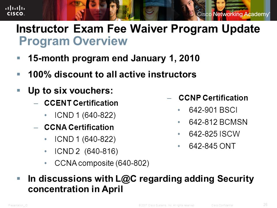Program Overview Instructor Exam Fee Waiver Program Update