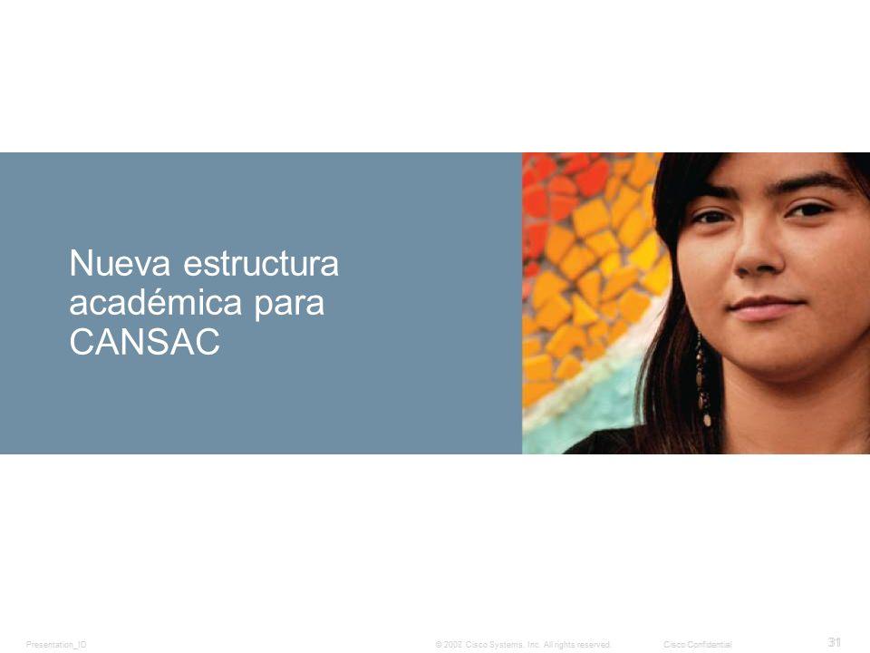 Nueva estructura académica para CANSAC