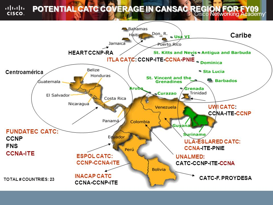 POTENTIAL CATC COVERAGE IN CANSAC REGION FOR FY09