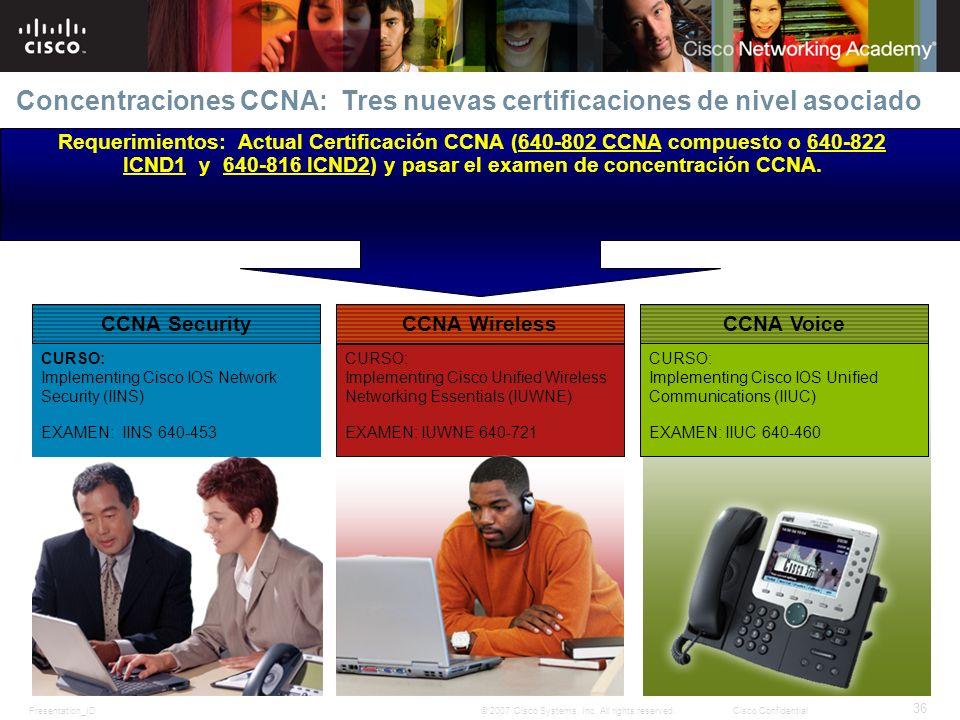 Concentraciones CCNA: Tres nuevas certificaciones de nivel asociado