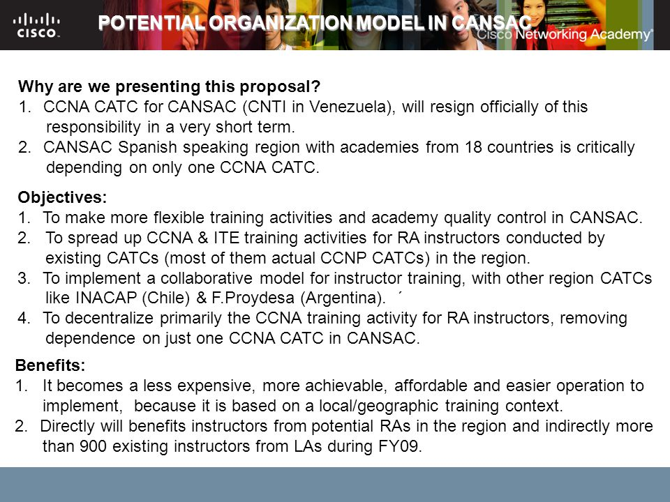 POTENTIAL ORGANIZATION MODEL IN CANSAC
