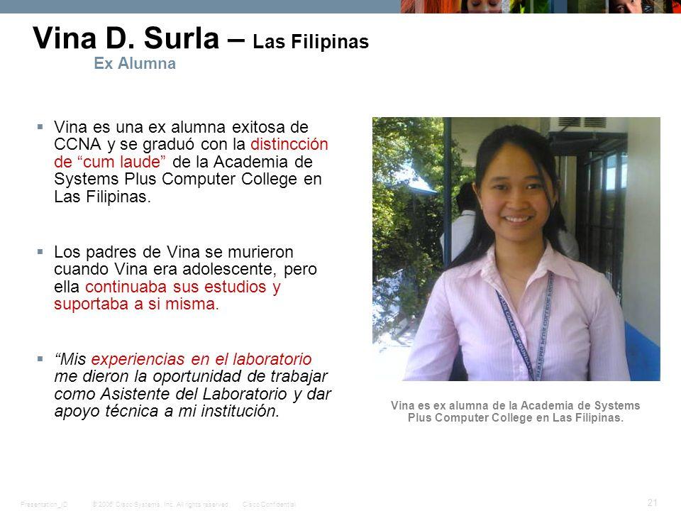 Vina D. Surla – Las Filipinas Ex Alumna