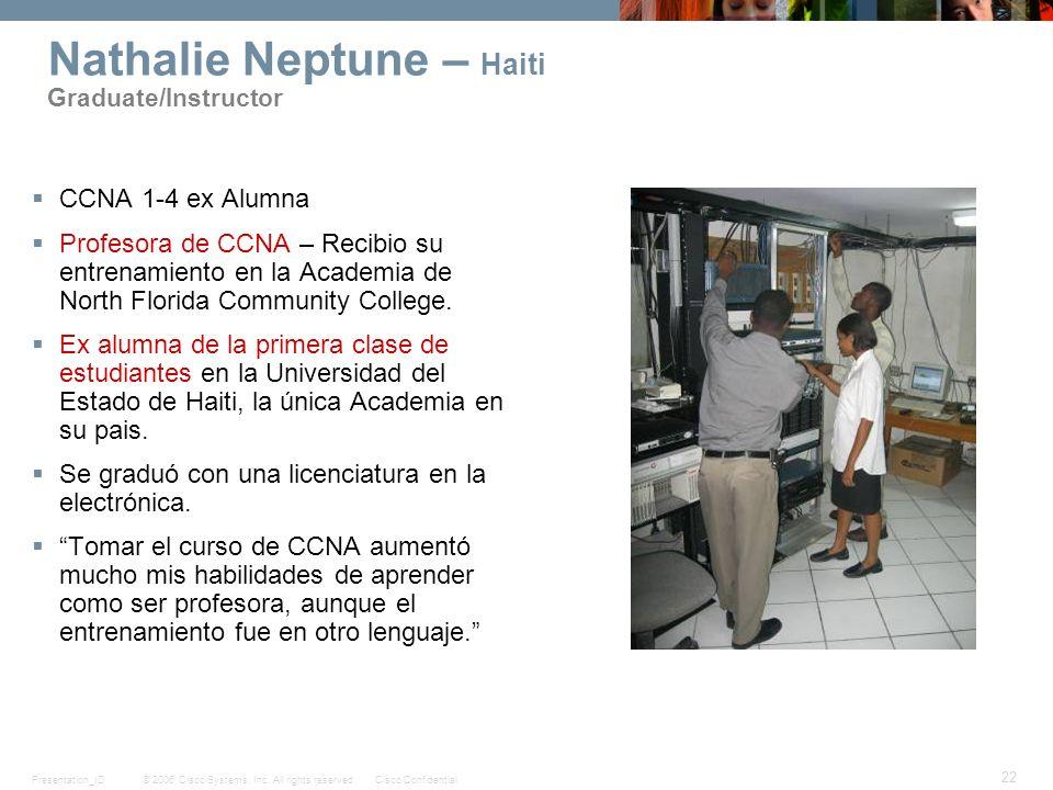 Nathalie Neptune – Haiti Graduate/Instructor