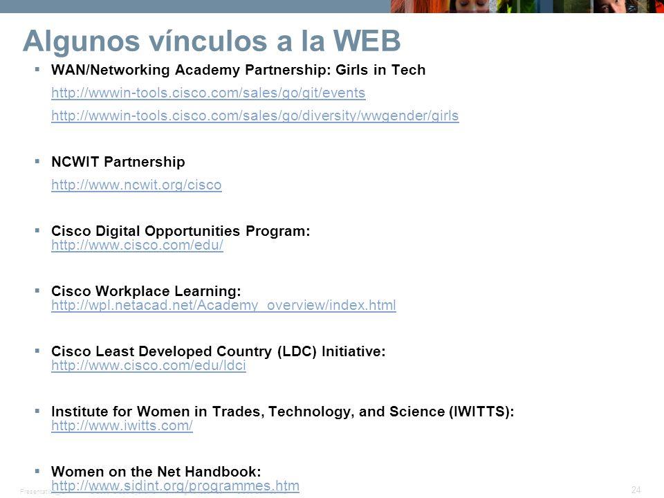Algunos vínculos a la WEB