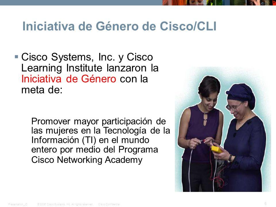 Iniciativa de Género de Cisco/CLI