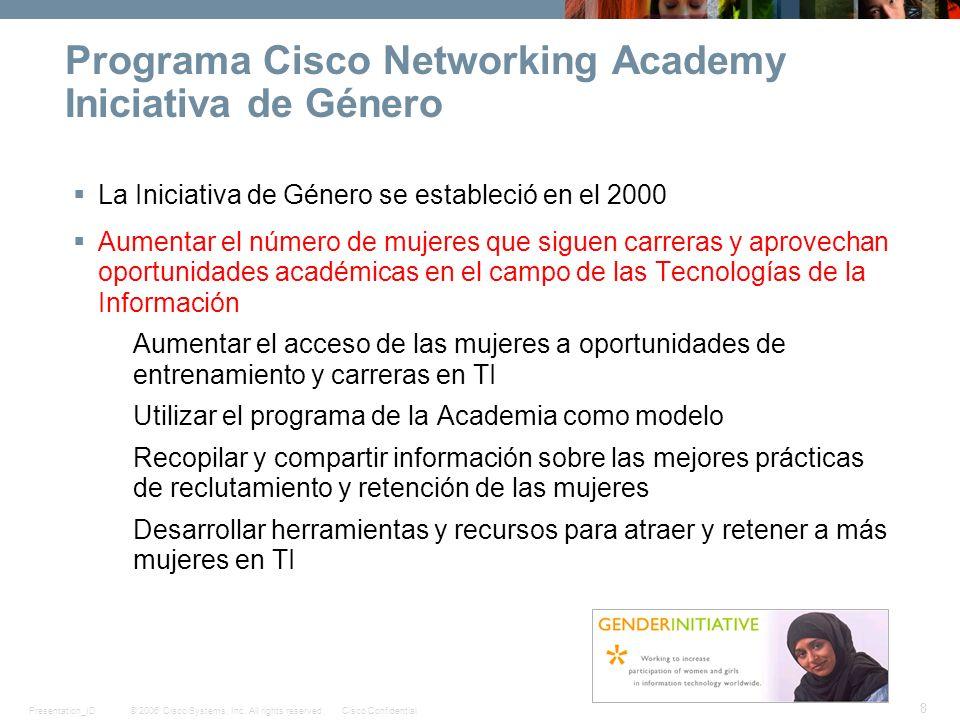 Programa Cisco Networking Academy Iniciativa de Género