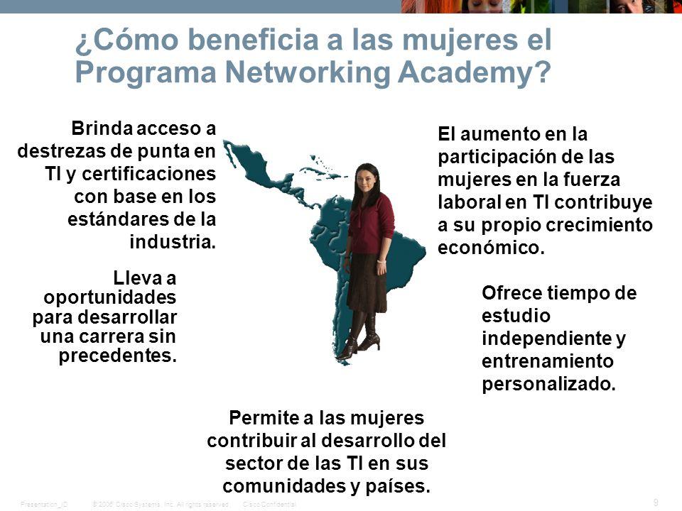 ¿Cómo beneficia a las mujeres el Programa Networking Academy
