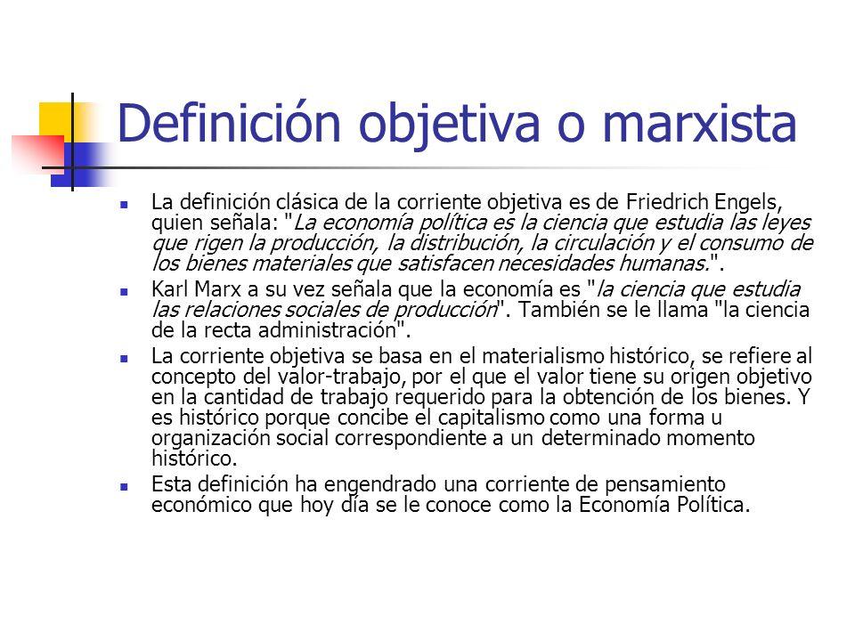 Definición objetiva o marxista