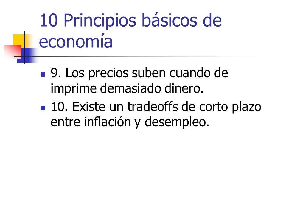10 Principios básicos de economía