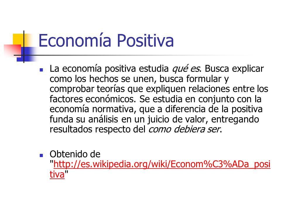 Economía Positiva