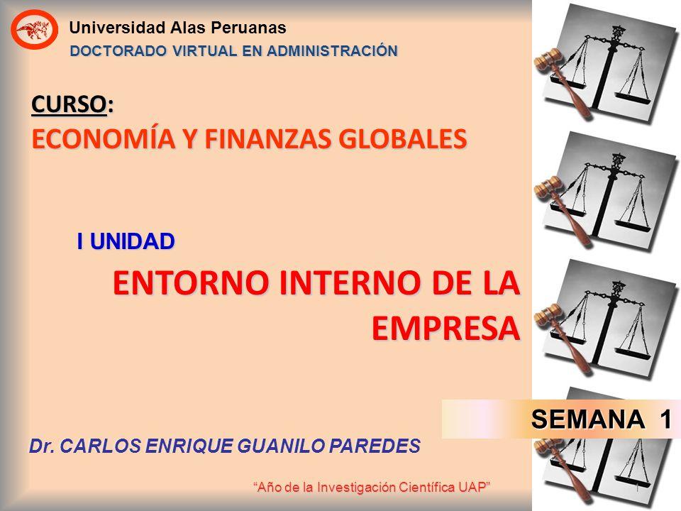 CURSO: ECONOMÍA Y FINANZAS GLOBALES