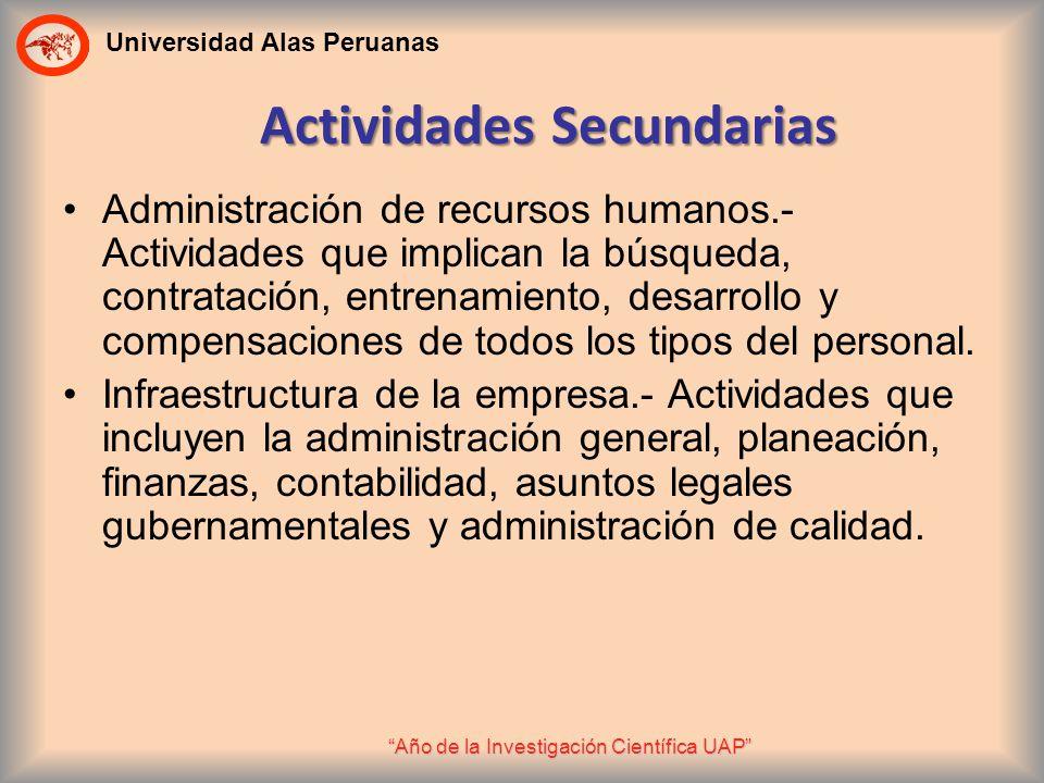 Actividades Secundarias