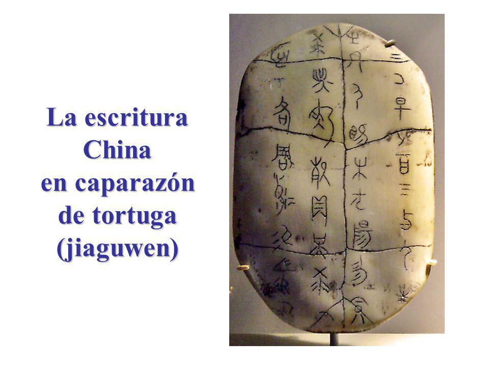 La escritura China en caparazón de tortuga (jiaguwen)