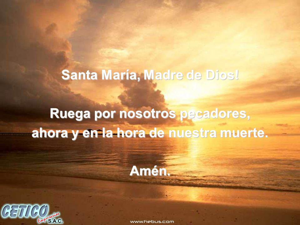 Santa María, Madre de Dios! Ruega por nosotros pecadores,