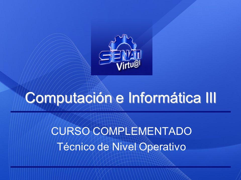 Computación e Informática III