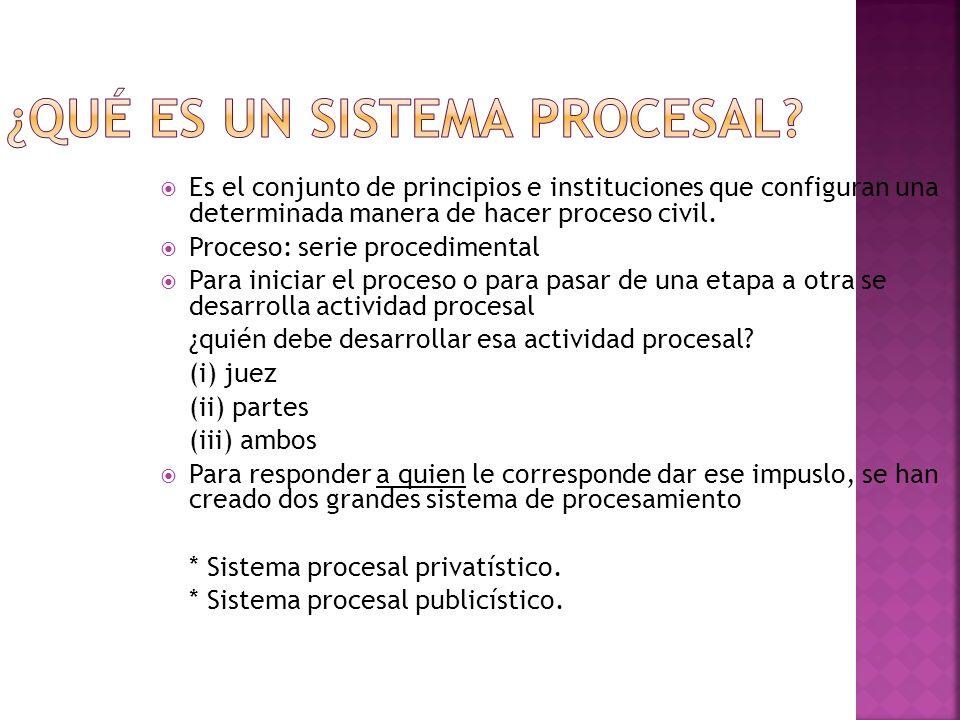 ¿Qué es un sistema procesal
