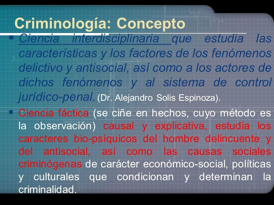 Criminología: Concepto