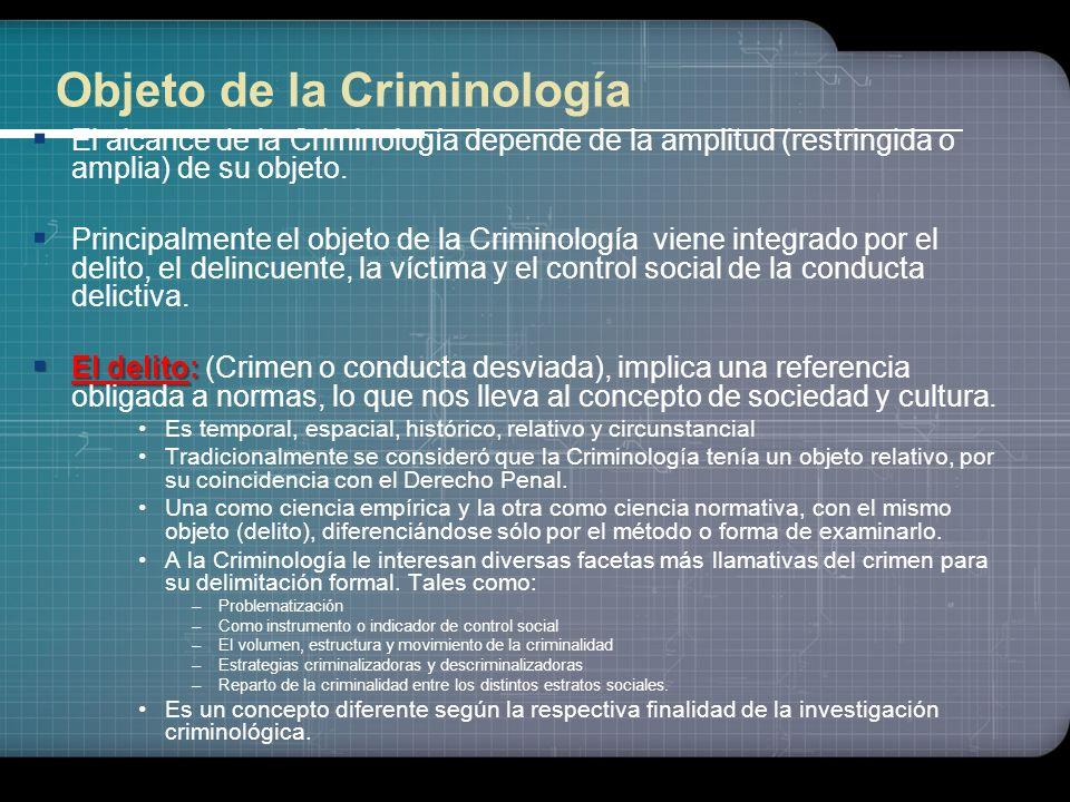 Objeto de la Criminología