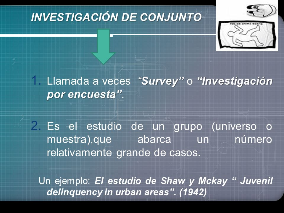 INVESTIGACIÓN DE CONJUNTO