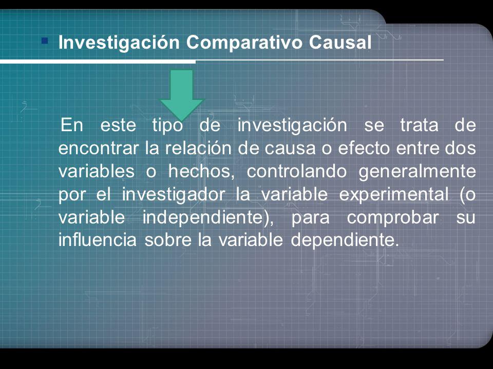 Investigación Comparativo Causal