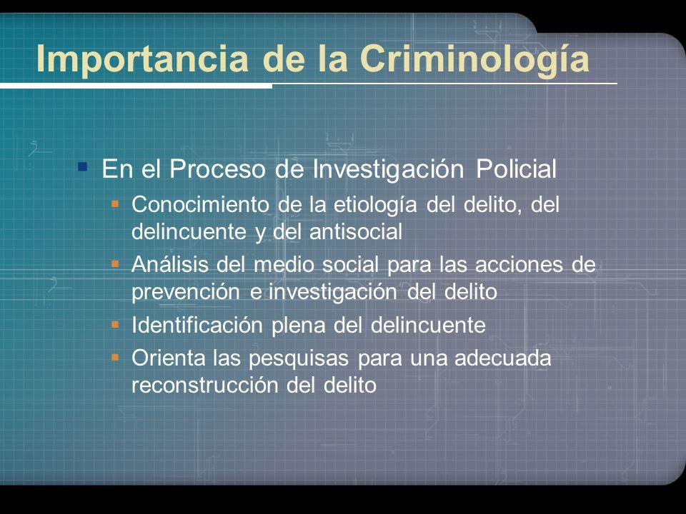 Importancia de la Criminología