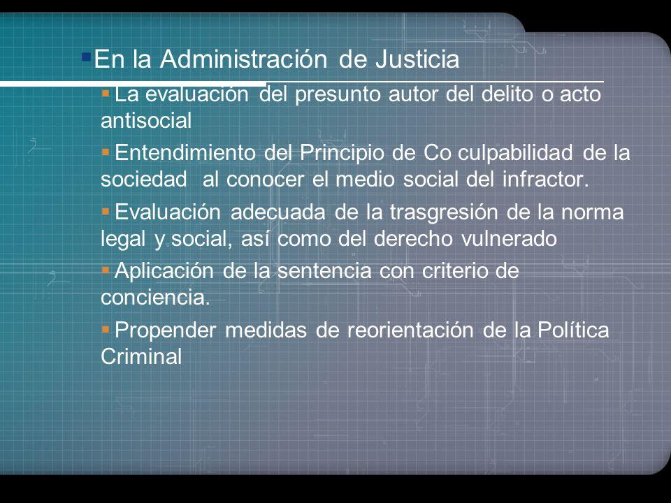 En la Administración de Justicia