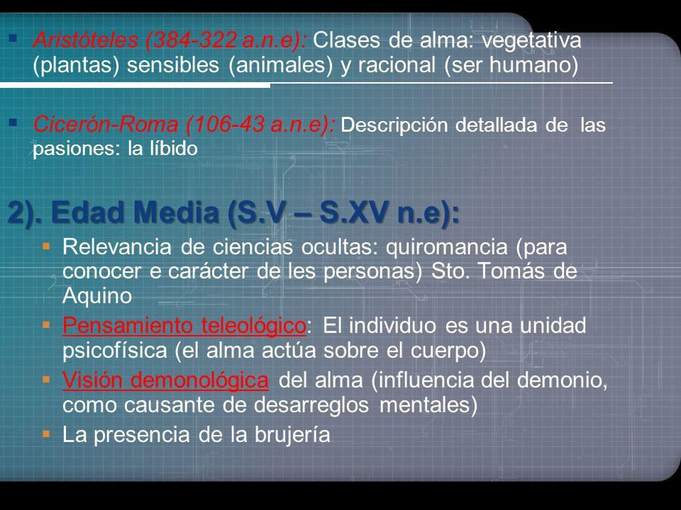 2). Edad Media (S.V – S.XV n.e):