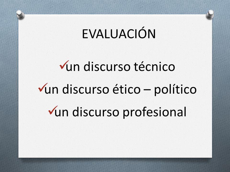 un discurso ético – político un discurso profesional